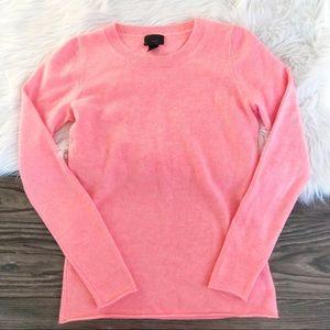 J. Crew Pink Italian Cashmere Sweater